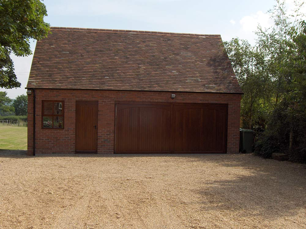 New build double garage abbey and lyndon for Double garages