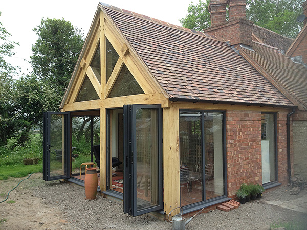 Single Storey Oak Framed Extension Abbey And Lyndon