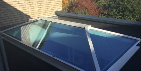 Extension with roof lantern & bi-folding doors
